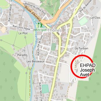 carte emplacement ehpad joseph avet de thones